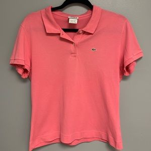 Women's Lacoste Pink Polo Short Sleeve Shirt